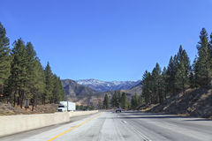 Mountain Highway Driving Stock Photography