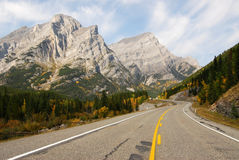 Mountain highway in fall royalty free stock photos