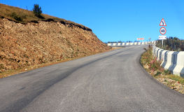 Mountain highway and landscape. North Caucasus travel. Stock Image