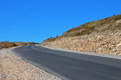 Mountain highway and landscape. North Caucasus travel. Royalty Free Stock Photo