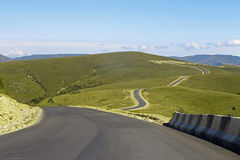 Mountain highway and landscape. North Caucasus travel. Stock Photography