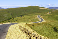 Mountain highway and landscape. North Caucasus travel. Stock Images
