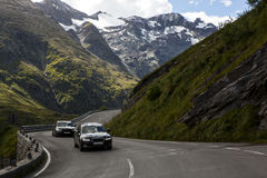 On the mountain highway. Royalty Free Stock Images