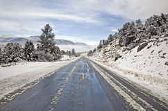 Mountain Highway in Winter Royalty Free Stock Photo