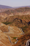 Mountain highways in Morocco. Mountain highways in Atlas Mountains from Morocco Royalty Free Stock Images
