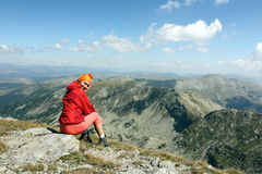 Mountain hike royalty free stock photography
