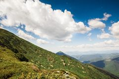 Mountain hike the picturesque valleys and forests Royalty Free Stock Photography
