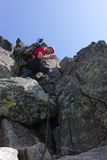 Mountain hiker Stock Images