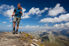 Mountain hiker Stock Photos