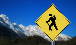 Mountain hiker Stock Photo
