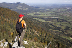 Mountain hiker Stock Photography