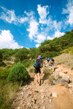 Mountain hikers Stock Images