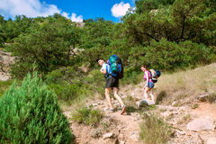 Mountain hikers Royalty Free Stock Photo