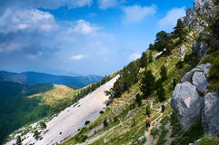Mountain Hiking Stock Photography