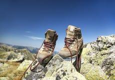 Mountain Hiking Boots Royalty Free Stock Photos