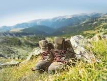 Mountain Hiking Boots Stock Photos