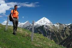 Mountain hiking man Stock Photos