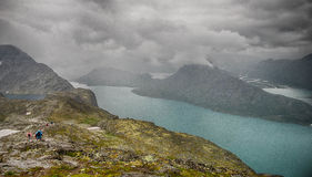 Mountain hiking in Norway Royalty Free Stock Images