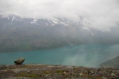 Mountain hiking in Norway Stock Photos
