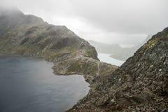 Mountain hiking in Norway Stock Photo