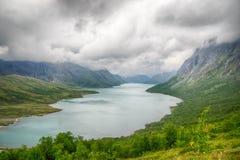 Mountain hiking in Norway Stock Image