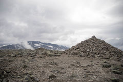 Mountain hiking in Norway Royalty Free Stock Photo