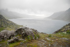 Mountain hiking in Norway Stock Images