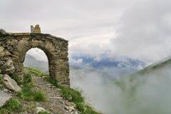 Mountain hiking route through arch Royalty Free Stock Photos