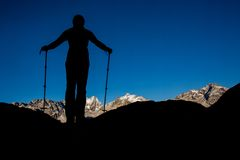 Mountain hiking Royalty Free Stock Image