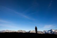 Mountain hiking Stock Photos