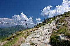 Mountain hiking trail Stock Image