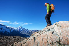 Mountain hiking Stock Image