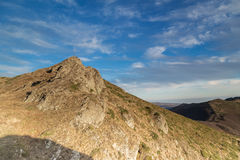 Mountain hill and beautiful sky Royalty Free Stock Photography