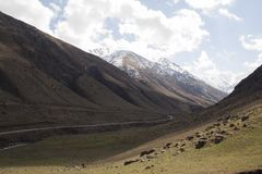 Mountain hill road panoramic landscape.  Stock Photography