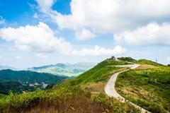 Mountain hill road viewpoint scenic landmark Stock Photo