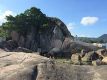 Mountain. Hill stones view beautiful paradise Thailand stock image
