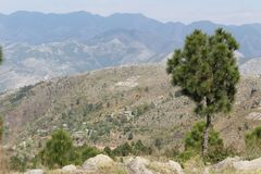 Sarban hill top in pakistan royalty free stock photos