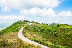 Mountain hill viewpoint scenic landmark Stock Images