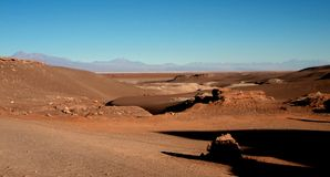 Mountain hills desert panorama Chile san Pedro de Atacama Royalty Free Stock Images