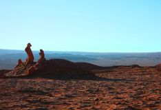 Mountain hills desert panorama Chile san Pedro de Atacama Royalty Free Stock Photos