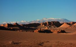 Mountain hills desert panorama Chile san Pedro de Atacama Stock Photo