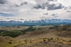 Mountain hills forest steppe Royalty Free Stock Image