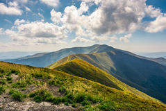 Mountain hillsides in late summer Stock Image