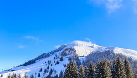 Mountain Hohe Salve with snow in winter. Ski resort Soll, Tyrol. Mountain Hohe Salve with snow in winter. Ski resort  Soll, Tyrol, Austria Stock Photography