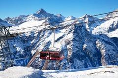 Mountain hoist in Switzerland Stock Image