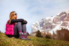 Mountain holidays. Hiking stock photos