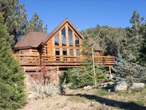 Mountain Home. In vacation resort in California Stock Photography