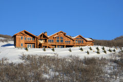 Mountain home. Nice huge log cabin for people to live and vacation Stock Image