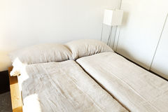 Mountain home, bedroom Stock Photo