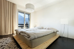 Mountain home, bedroom Stock Photo